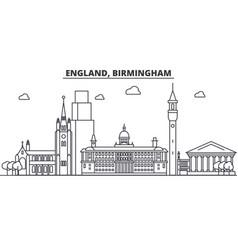 England birmingham architecture line skyline vector