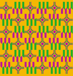 Ethnic seamless pattern cloth kente vector