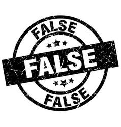 false round grunge black stamp vector image