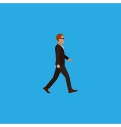 flat of businessman vector image
