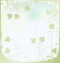 floral background ivy vector image