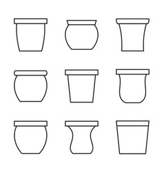 Flowerpot icon vector
