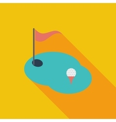 Golf flat single icon vector image