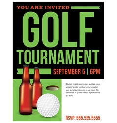 Golf Tournament Flyer Template vector image