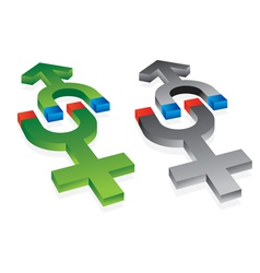 gravitation of male and female symbol vector image