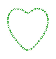 green chain in shape of heart vector image