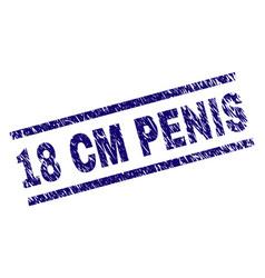 Grunge textured 18 cm penis stamp seal vector