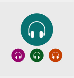 headphone icon simple vector image