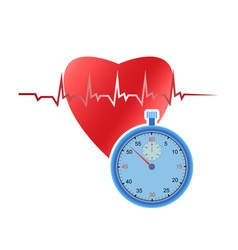 heart and stopwatch vector image