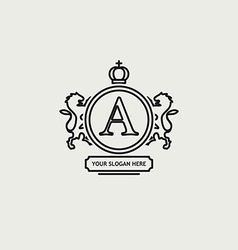 Heraldic sign black line design vector