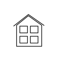 house windows icon vector image