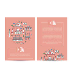 India country traveling advertising template vector