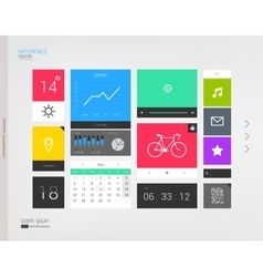Interface template with modern icons vector image
