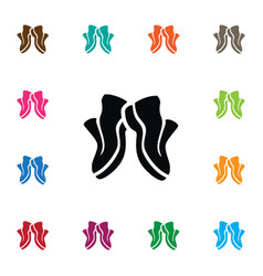 Isolated sneakers icon gumshoes element vector