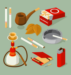 isometric pictures of different accessories for vector image