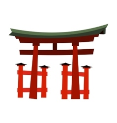 Japan Gate - Torii gate vector image