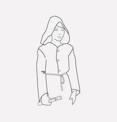 Jedi icon line element of vector