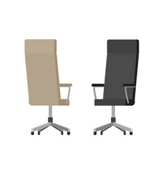 leather office chairs on wheels with high backs vector image