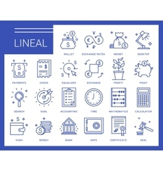 Line icons in a modern style vector image