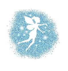 Magical fairy with dust glitters vector image