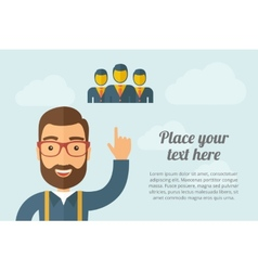 Man pointing the three businessmen icon vector image