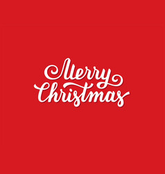 merry christmas hand drawn lettering design vector image