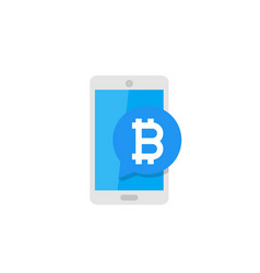 Mobile payment with bitcoin vector