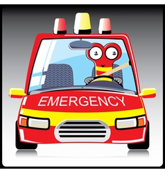 monster a in emergency car vector image