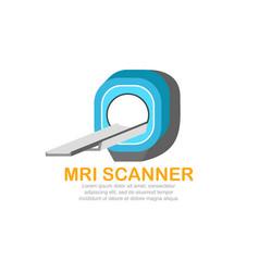 Mri scanner logo template vector