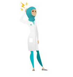 Muslim doctor with lightning over head vector