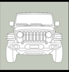 off-road vehicle jeep vector image