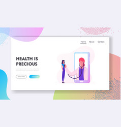 online healthcare service website landing page vector image