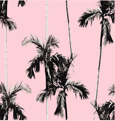 palm trees seamless background vector image