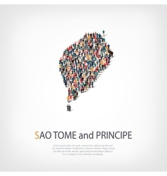 people map country Sao Tome vector image