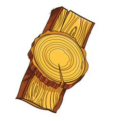 Piece of wood vector