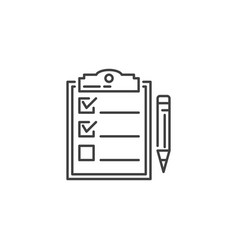 Planning related line icon vector