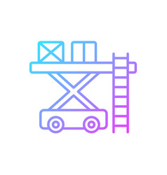 Ramp services gradient linear icon vector