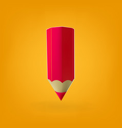 Red pencil icon vector