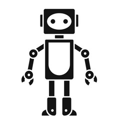 robot toy icon simple style vector image