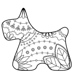 Scottish terrier coloring silhouette vector