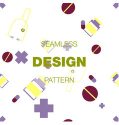 Seamless pattern in colors with geometric vector