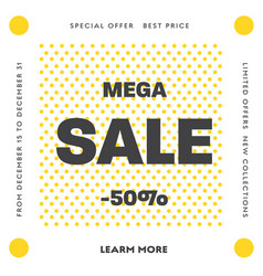set square web banners for big sale with round vector image
