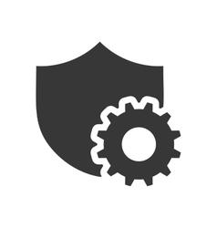 Shield gear data center design vector