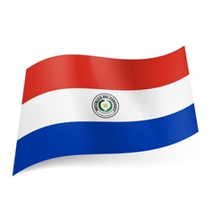 State flag of paraguay vector