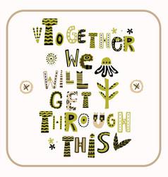 Stay positive corona virus motivation banner vector