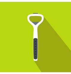 Steel bottle opener icon flat style vector image