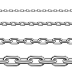Steel Chains Horizontal Realistic Set vector image