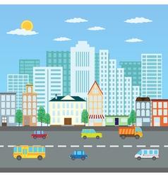Summer cityscape vector image
