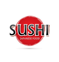 Sushi font vector