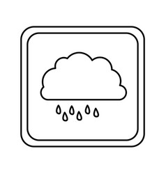 Symbol cloud rainning icon vector